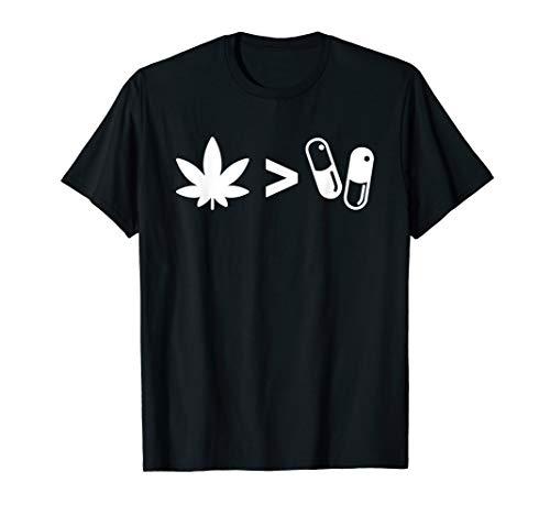 Plants Over Pills CBD Oil Medical Marijuana T Shirt