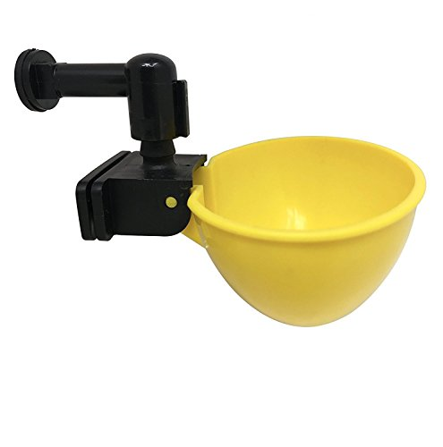 RentACoop Automatic Chicken Water Nipple Cup Waterer Kit Poultry (Pack of 2)
