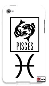 Pisces Sign Zodiac Horoscope Symbol Apple ipod 5 Ipod 5g Quality Hard Case Snap On Skin for ipod Gen 5 and 5, 5G (WHITE CASE)
