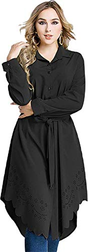 di Casual Lunga Lunga Vintage BOLAWOO Colore Shirts Manica Fashion Donna Magliette Puro Marca Tops Primaverile Mode Autunno Camicetta Blusa Schwarz Irregolare Asimmetrica Elegante TTwzq7Onx
