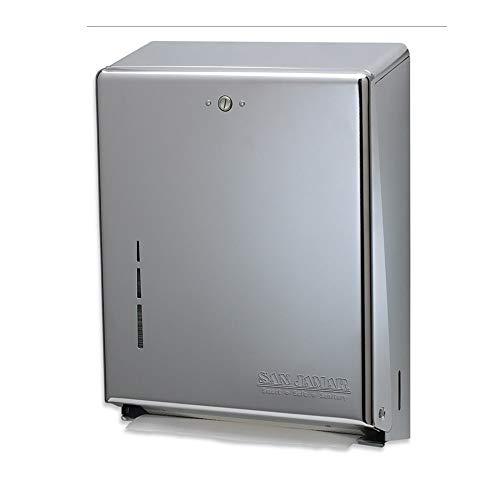 San Jamar T1900XC Classic Wall Towel Dispenser - C-Fold or Multifold, Matte Chrome