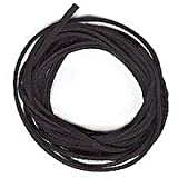 UnCommon Artistry FSBL10 Velvet Black Faux Leather Suede Beading Cord 10 Feet Ultra Microfiber