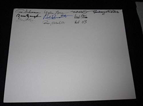 (Football Hall of Fame HOF Signed 16x20 Board LOA Dorsett Baugh Staubach + 6 - JSA Certified - Autographed NFL Photos)