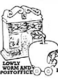 Happy Meal The Busy World of Richard Scarry Lowly Worm and Post office Toy Vehicle and Building #1 1995 by McDonald's