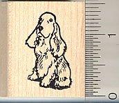 Tiny Cocker Spaniel Rubber Stamp