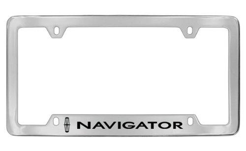 Navigator Chrome Lincoln (Lincoln Navigator Chrome Plated Metal Bottom Engraved License Plate Frame Holder)
