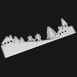 FORUU Die Cut, Metal Cutting Dies Stencils Scrapbooking Embossing Mould Templates Handicrafts DIY Card Making Paper Cards Best Gift Merry Christmas Crafts B