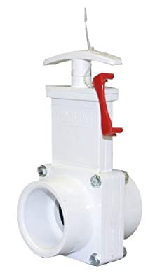 "Valterra 6101X PVC Gate Valve, White, 1-1/2"" Slip w/ Gate Keeper by Valterra Products"