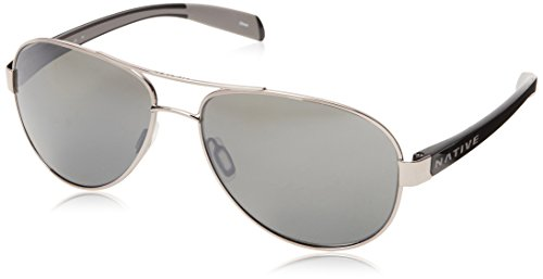 Native Eyewear Patroller Polarized Sunglasses, Chrome/Iron Frame, Silver Reflex - Native Amazon Sunglasses
