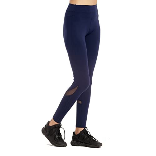 a3a5eadd961 MOFEVER Women Workout Fitness Yoga Pants Tights Leggings With Mesh ...