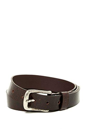 Diesel Buckle Closure Belt (Diesel BACRAK Leather Belt in Dark Brown, size 85cm /34