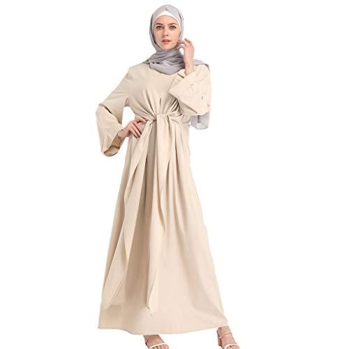 Muslim Dress Fashion Muslim Kaftan Women Soild Color