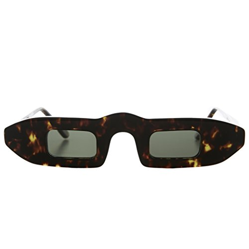 Narrow Small Square Slit Lens Futuristic Sunglasses - - Beatnik Sunglasses