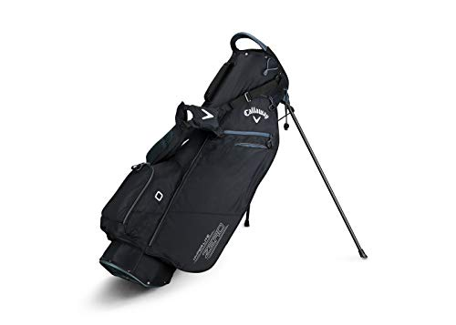 Callaway Golf 2019 Hyper Lite Zero Stand Bag, Black/Titanium/White, Single Strap