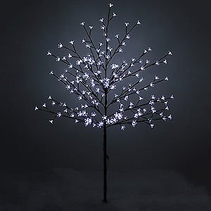 Outdoor led xmas tree lights outdoor led xmas tree lights page 0 new 1 5m led cherry tree artificial christmas tree indoor outdoor workwithnaturefo
