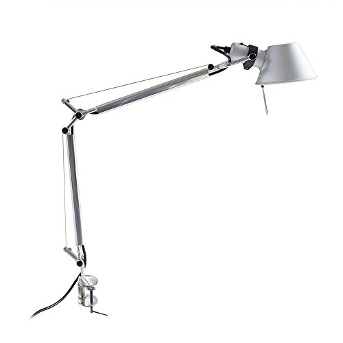 MODO CL-03 Full Size Silver Color Office Desk Lamp Polished Aluminum Lights