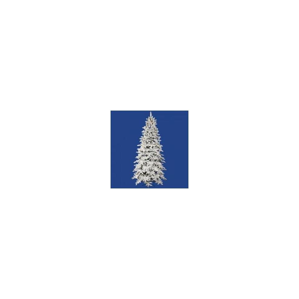 3.5 Pre Lit Flocked Olympia Fir Artificial Christmas Tree   Multi Dura Lights