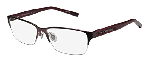 Trussardi 12720 Mens/Womens Designer Half-rim Spring Hinges Eyeglasses/Eyewear (54-15-135, - Of Eyeglasses Frames Mind
