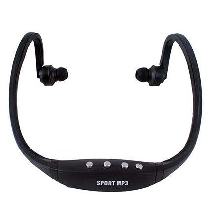 Febelle Sport - Auriculares inalámbricos para Reproductor de MP3 Negro