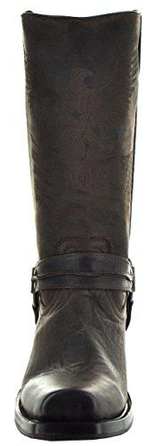 Soto Boots Menns Lær Sele Boots Av H50021 Brun