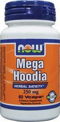 Hoodia Concentrate - NOW Foods - Mega Hoodia Concentrate 250 mg. - 60 Vegetarian Capsules