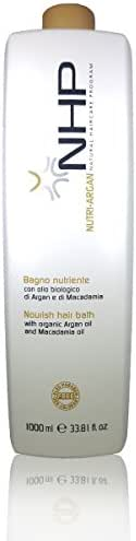 NHP Nutri Argan Nourishing Shampoo with Macadamia Oil (Dry and Colored Hair) (1000ml / 33.8oz)