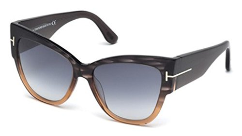 (Tom Ford Anoushka TF371 AnoushkaSunglasses, Gray Frame/Gradient Smoke Lens, 57mm)