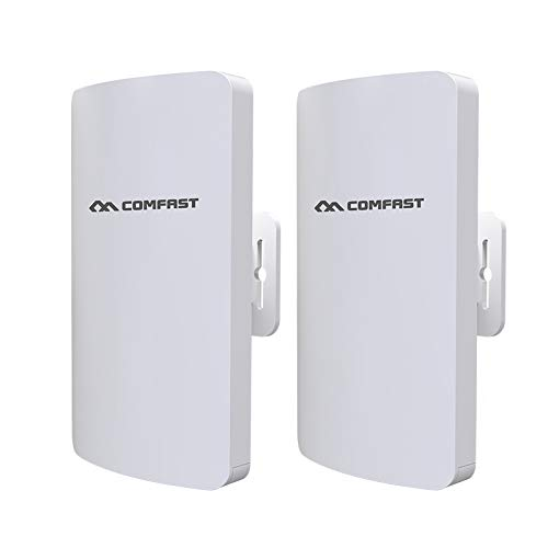 - Wireless Bridge Outdoor Kit, Indoor and Outdoor Point-to-Point Wireless Bridge/CPE Support 3KM Transmission Distance Solution for PTP, PTMP Applications (WDS)