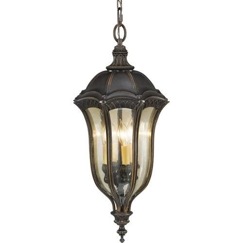 Feiss Baton Rouge Walnut 4-Light Outdoor Pendant Light OL6012WAL