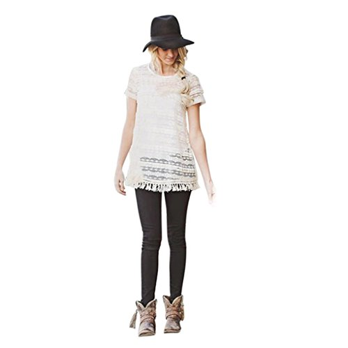 malltop-family-clothes-mom-and-daughter-bff-lace-tassels-blouse-shirt-white-vest-xl-for-mom