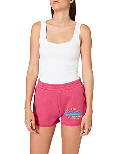Superdry Womens VL Duo Shorts, Magenta Marl, S