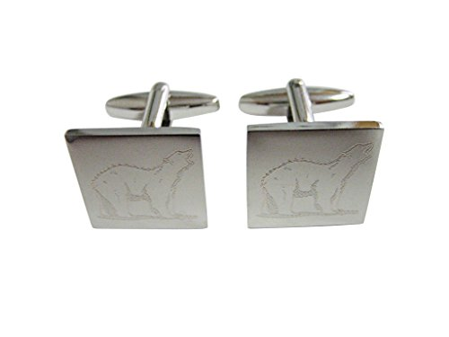 silver-toned-etched-polar-bear-cufflinks