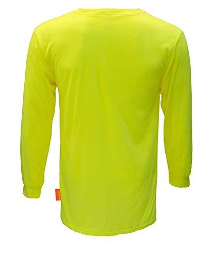 NY Hi-Viz Workwear Long Sleeve Safety Shirt, L2110 and L2111 (SET OF 3(3XL), Neon Yellow)