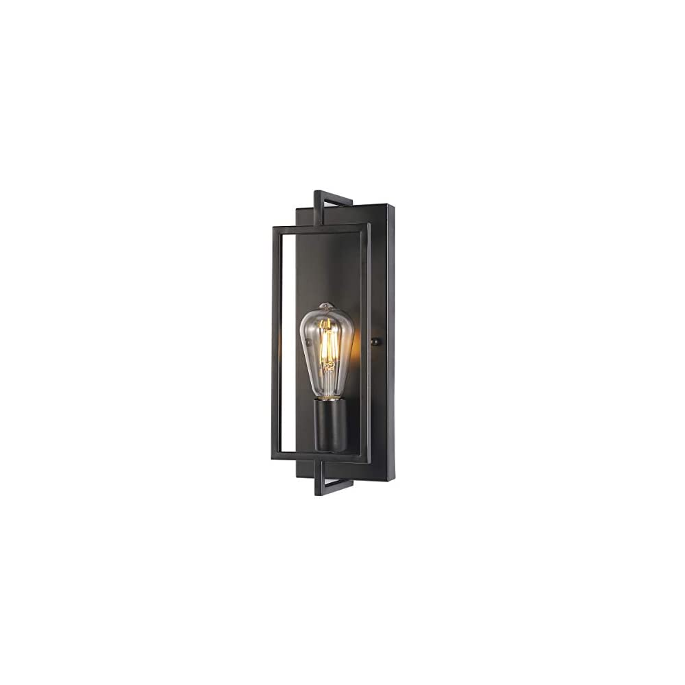 PUUPA Black Wall Sconce Lighting, Single Light Bathroom Vanity Light fixtures Modern Indoor Farmhouse Wall Lights