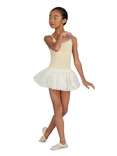 Capezio Camisole Leotard w/ Clear Transition Straps - Girls - Size Child Medium, Nude