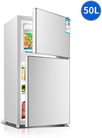 Weiaxminibx ミニ家庭用冷蔵庫、小型冷蔵庫ダブルドア、コールドストレージ/凍結/省エネ/サイレント