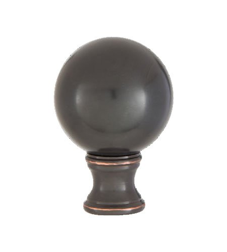 B&P Lamp Smooth Ball Design, 32mm Solid Brass Finial, Oiled Bronze Finish