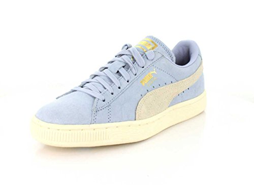 PUMA Womens Suede Classic Shine Halogen Blue/Whisper White Sneaker - 8.5 jc0GtDwth