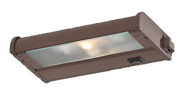 CSL Lighting NCAX120L-8BZ Counter Attack 1-Light Undercabinet Fixture with SpeedLink, Bronze Finish with Prismatic Glass Diffuser ()