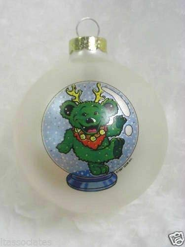 Grateful Dead Christmas Ornament.Amazon Com Santa S Rockshop Grateful Dead Bear Globe
