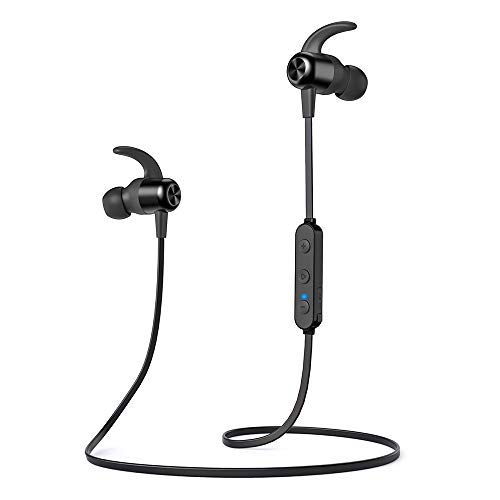 Bluetooth Headphones TaoTronics Wireless Earbuds Sport Earphones 20 Hours 5.0 Magnetic Lightweight & Fast Pairing (Noise Cancelling Mic