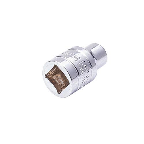 Utoolmart 3/8 Drive 7mm Chrome-vanadium Metric Total Length 28mm 6 Point Axle Nut Hex Socket Hexagonal Plum Sleeve 0.375' Drive Hex Driver