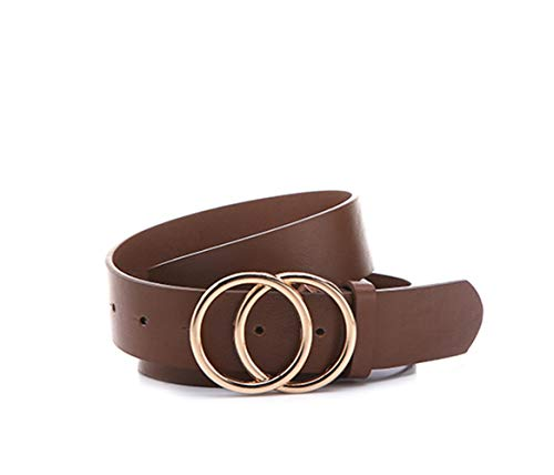 Gackoko Women Leather Belt for Dress & Jeans Fashion Soft Genuine Leather with Double O-Ring - Womens Plus O-ring