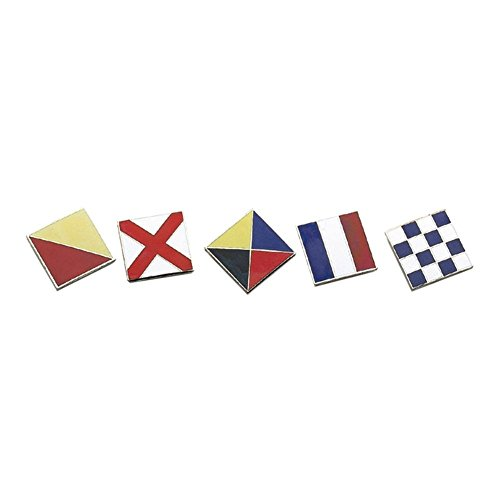 Bake Enamel International Code Flag Letters (A to Z) (Letter H Code Flag (Nautical Flag Stickers)