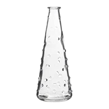 Ikea Snartig Vase Clear Glass 18 Cm Amazon Co Uk Kitchen Home