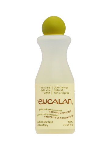 (Eucalan Delicate Wash - Natural Unscented Small 3.3oz/100mL Bottle )