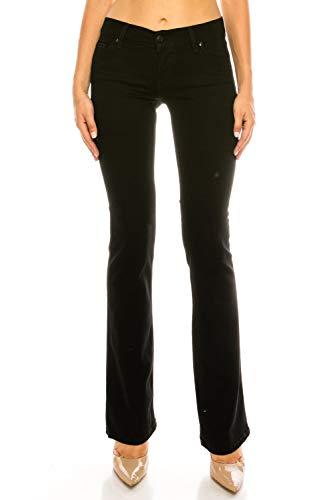 Eunina Jeans  Womens Basic Slim Bootcut Jeans (11) ,91 Black