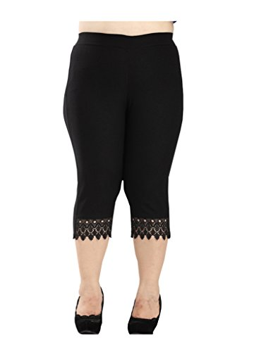 Wholesale AYZ Women's Lace Plus Size Legging Pant/Black for cheap