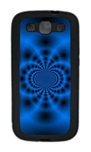 Blue Fractal Tunnel TPU Case Cover for Samsung Galaxy S3 Case and Cover - Black