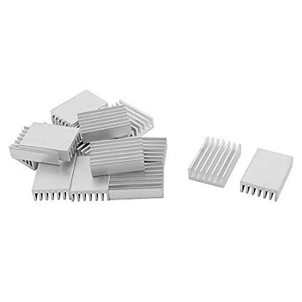 eDealMax aluminio difusa de calor de refrigeración radiador de la Aleta del disipador de calor 20